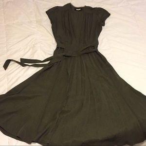 Reformation Nova Wrap Dress Hunter Green